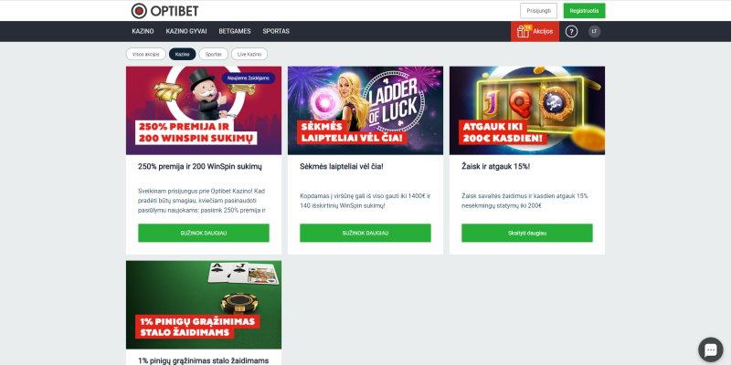 Optibet Internetu Bonus